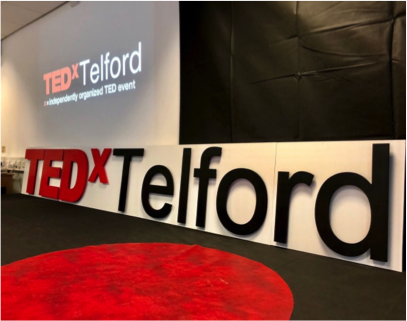 TEDxTelford stage pic